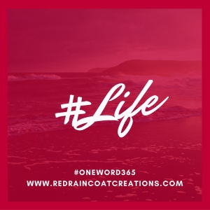 #oneword365 Red Raincoat Creations #life 2017